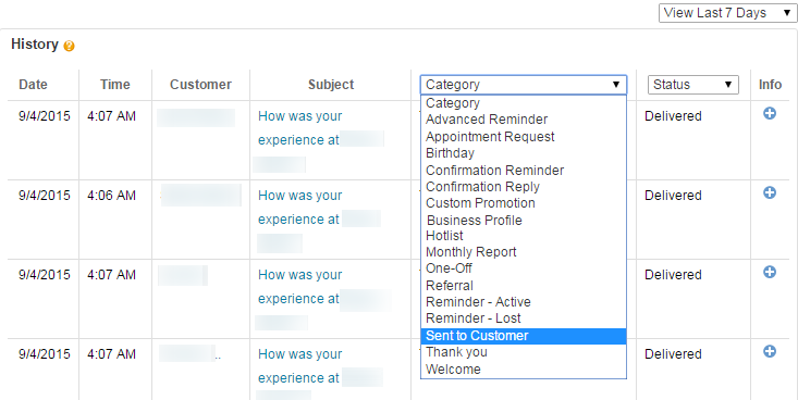 Find Customer Replies to Text Messages