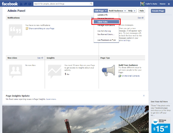 Adding Admins to Your Facebook Business Page