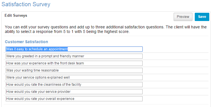 Add or Customize Survey Questions